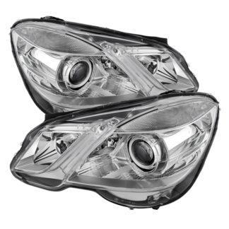 Mercedes Benz E-Class 10-13 Projector Headlights - OE Style - Halogen Model Only ( Not Compatible With Xenon/HID Model ) - Chrome