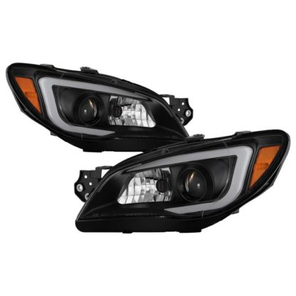 Subaru Impreza WRX 2006-2007 Projector Headlights - Halogen Model Only ( Not Compatible With Xenon/HID Model ) - Light Bar DRL - Black