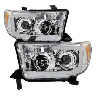 Toyota Tundra 07-13 / Toyota Sequoia 08-13 LED Light Bar Projector Headlights – Chrome
