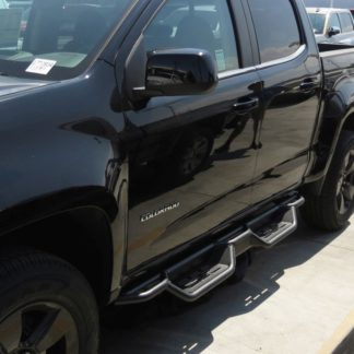 Nerf Bar Drop Down Style Black Carbon Steel 2015-2018 Chevrolet Colorado Crew Cab   2015-2018 GMC Canyon Crew Cab