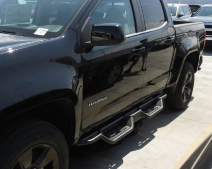 Nerf Bar Drop Down Style Black Carbon Steel 2015-2018 Chevrolet Colorado Crew Cab   2015-2018 GMC Canyon Crew Cab