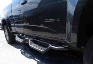 Nerf Bar Drop Down Style Black Carbon Steel 2015-2018 Chevrolet Colorado Extended Cab   2015-2018 GMC Canyon Extended Cab
