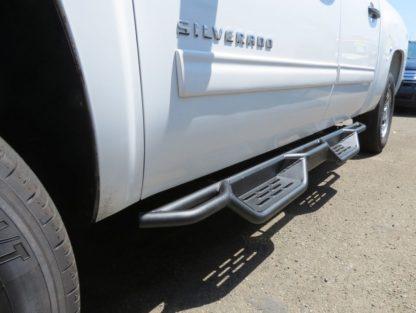 Nerf Bar Drop Down Style Black Carbon Steel 2007-2018 Chevy/GMC Silverado/Sierra 1500 Crew Cab   2007-2018 Chevy/GMC Silverado/Sierra 2500/3500 Crew Cab   (Incl. Diesel Models With DEF Tanks)