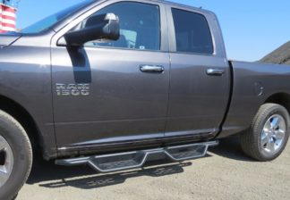 Nerf Bar Drop Down Style Black Carbon Steel 2009-2018 Dodge Ram 1500 Quad Cab