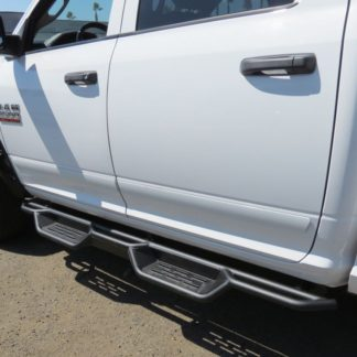 Nerf Bar Drop Down Style Black Carbon Steel 2009-2018 Dodge Ram 1500 Crew Cab /2009-2018 Dodge Ram 2500/3500/4500/5500 Crew Cab (EXCL. CHASSIS CAB DIESEL MODELS)
