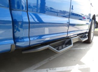 Nerf Bar Drop Down Style Black Carbon Steel 2015-2018 Ford F-150 Super Cab 2017-2018 Ford F-250/F-350 Super Cab