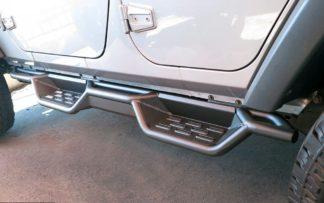 Nerf Bar Drop Down Style Black Carbon Steel 2007-2018 Jeep Wrangler JK 4Dr (Factory sidesteps or rock rails have to be removed)
