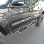 Nerf Bar Drop Down Style Black Carbon Steel 2005-2018 Toyota Tacoma Double/Crew Cab