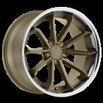 Blaque Diamond Wheel / Model BD-23 / Matte Bronze w/Chrome SS Lip