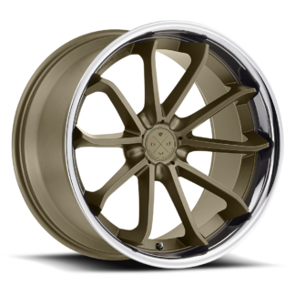 Blaque Diamond Wheel / Model BD-23 / Matte Bronze w/Chrome SS Lip