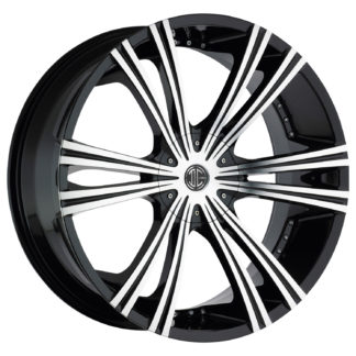 2Crave No. 12 Glossy Black / Machined Face Custom Wheel