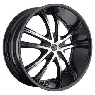 2Crave No. 21 Glossy Black / Machined Face Custom Wheel