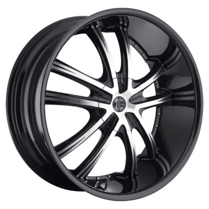 2Crave No. 21 Glossy Black / Machined Face Custom Wheel