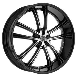 2Crave No. 24 Glossy Black / Machined Face Custom Wheel