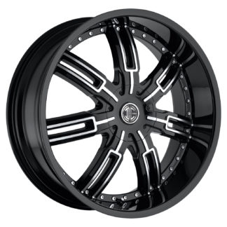 2Crave No. 27 Glossy Black / Machined Face Custom Wheel