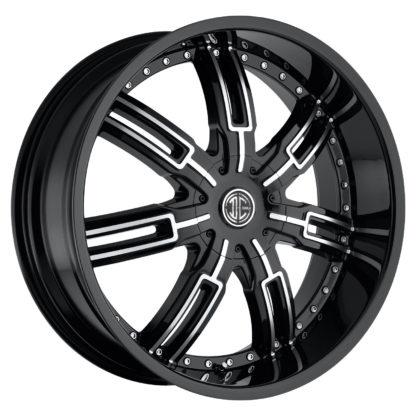 2Crave No. 27 Glossy Black / Machined Face Custom Wheel