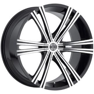 2Crave No. 28 Glossy Black / Machined Face Custom Wheel