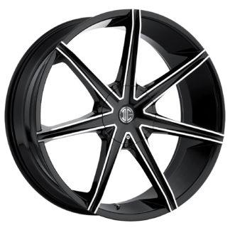 2Crave No. 29 Glossy Black / Machined Face Custom Wheel
