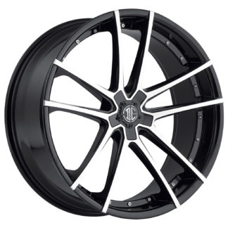 2Crave No. 34 Glossy Black / Machined Face / Custom Wheel