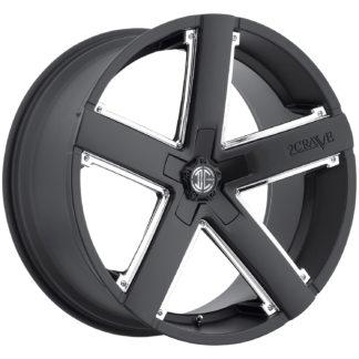 2Crave No. 35 Satin Black / Chrome Insert/ Custom Wheel