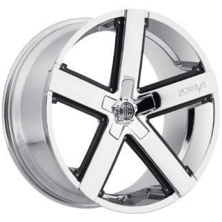 2Crave No. 35 Chrome Custom Wheel / Black Insert