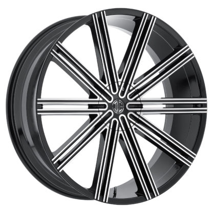 2Crave No. 47 Glossy Black / Machined Face Custom Wheel (New)