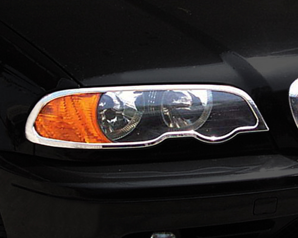 ABS Chrome Head Light Bezel 1997 - 2003 BMW 5-Series-E39