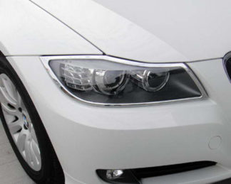 ABS Chrome Head Light Bezel (same 06-08 Model BM3SE9006) 2009 - 2011 BMW 3-Series-E90-Sedan