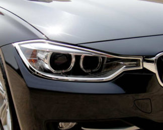 ABS Chrome Head Light Bezel 2012 - 2013 BMW 3-Series-F30-Sedan