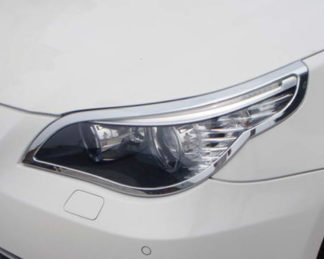 ABS Chrome Head Light Bezel 2004 - 2010 BMW 5-Series-E60