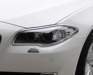 ABS Chrome Head Light Bezel 2011 - 2013 BMW 5-Series-F10