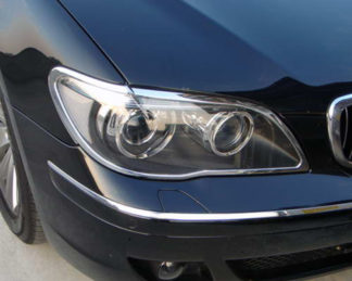 ABS Chrome Head Light Bezel 2006 - 2008 BMW 7-Series-E65