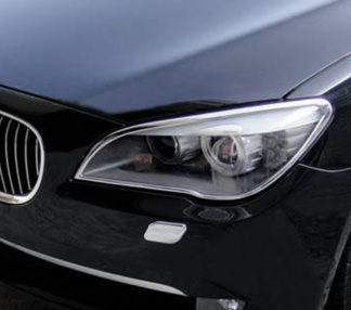 ABS Chrome Head Light Bezel 2009 - 2013 BMW 7-Series-F01