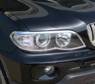 ABS Chrome Head Light Bezel 2004 - 2006 BMW X5-Series-E53