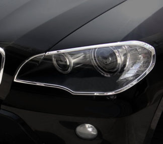 ABS Chrome Head Light Bezel 2007 - 2013 BMW X5-Series-E70