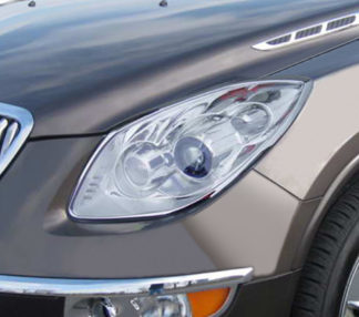 ABS Chrome Head Light Bezel 2008 - 2012 Buick Enclave