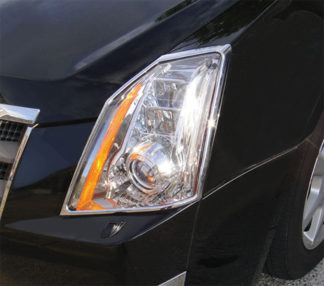 ABS Chrome Head Light Bezel 2008 - 2013 Cadillac CTS-Sedan
