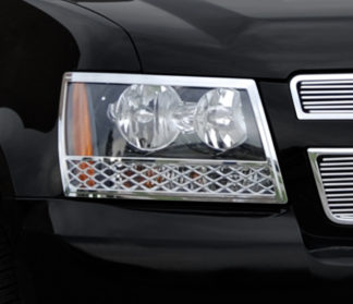 ABS Chrome Head Light Bezel 2007 - 2013 Chevy Avalanche