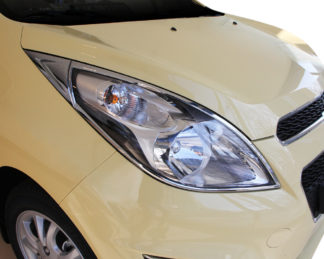 ABS Chrome Head Light Bezel 2013 - 2013 Chevy Spark