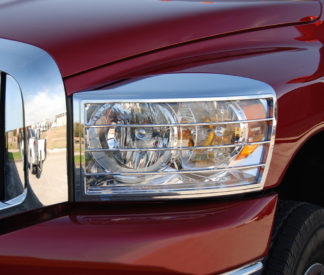 ABS Chrome Head Light Bezel 2006 - 2008 Dodge Ram