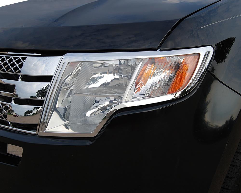 ABS Chrome Head Light Bezel 2007 - 2010 Ford Edge