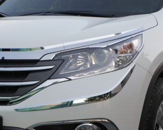 ABS Chrome Head Light Bezel 4-Pc 2012 - 2013 Honda CR-V