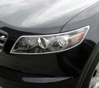 ABS Chrome Head Light Bezel 2003 - 2008 Infiniti FX-Series