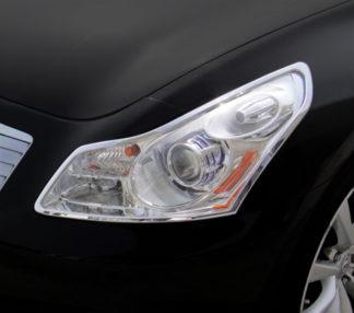 ABS Chrome Head Light Bezel 2007 - 2013 Infiniti G-Series-Sedan
