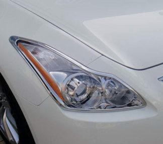ABS Chrome Head Light Bezel 2008 - 2013 Infiniti G-Series-Coupe