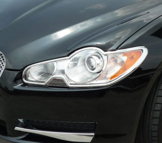 ABS Chrome Head Light Bezel 2009 - 2012 Jaguar XF-Series