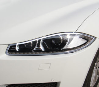 ABS Chrome Head Light Bezel 2012 - 2013 Jaguar XF-Series