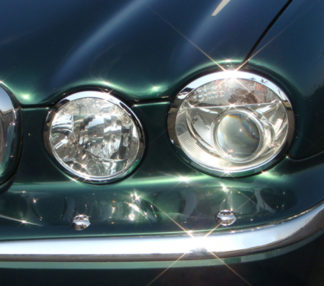 ABS Chrome Head Light Bezel 2004 - 2009 Jaguar XJ-Series