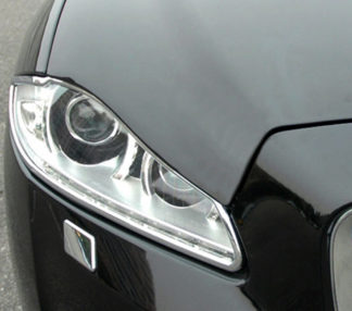ABS Chrome Head Light Bezel 2010 - 2013 Jaguar XJ-Series