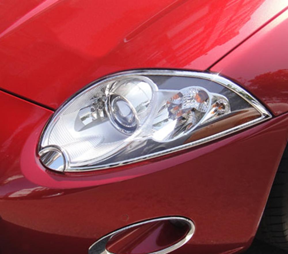 ABS Chrome Head Light Bezel 2007 - 2013 Jaguar XK-Series